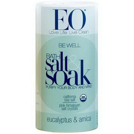 EO Products, Be Well Bath Salt&Soak, Eucalyptus&Arnica 623.7g