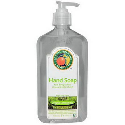 Earth Friendly Products, Hand Soap, Organic Lemongrass 500ml