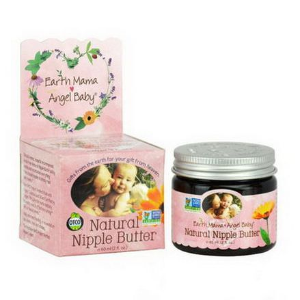 Earth Mama Angel Baby, Natural Nipple Butter 60ml
