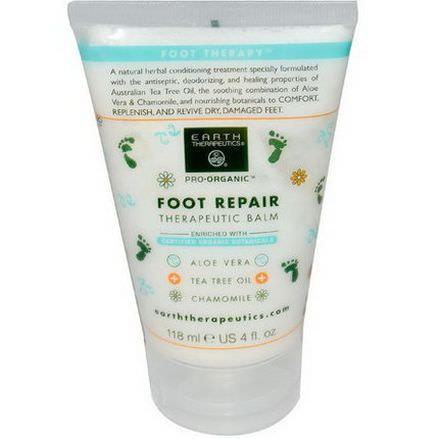 Earth Therapeutics, Basics, Foot Repair, Therapeutic Balm 118ml