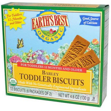 Earth's Best, Organic Barley Toddler Biscuits 6 Packages of 2