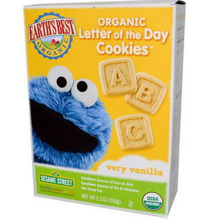 Earth's Best, Organic Letter of the Day Cookies, Very Vanilla 150g