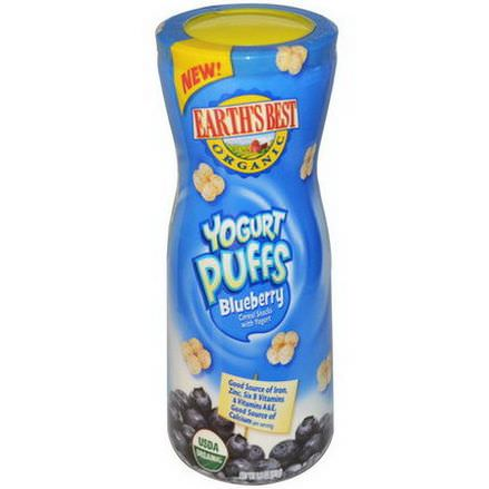 Earth's Best, Organic, Yogurt Puffs, Blueberry 51g