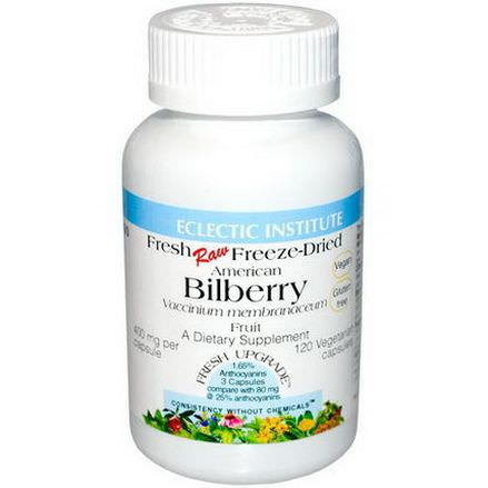 Eclectic Institute, American Bilberry, 400mg, 120 Veggie Caps