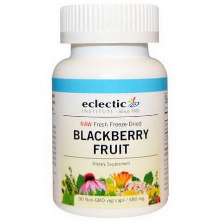 Eclectic Institute, Blackberry Fruit, 480mg, 90 Non-GMO Veggie Caps