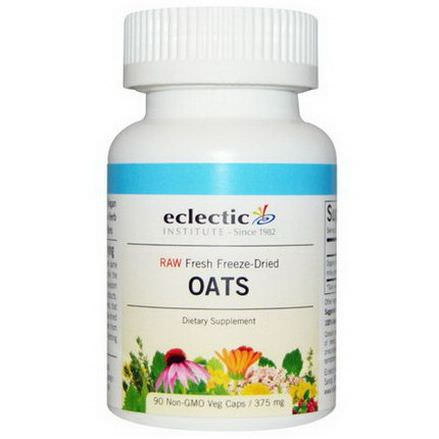 Eclectic Institute, Oats, 375mg, 90 Non-GMO Veggie Caps