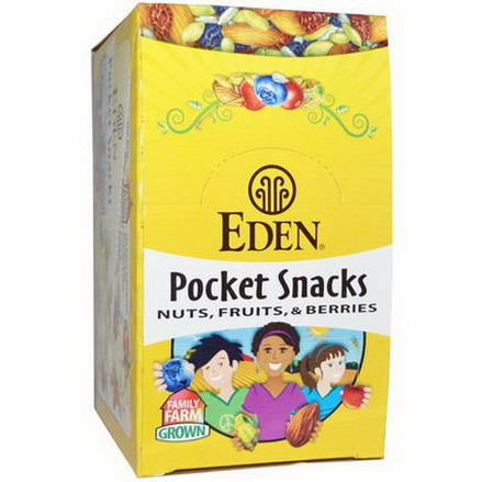 Eden Foods, Pocket Snacks, Pistachios, 12 Packages 28.3g Each