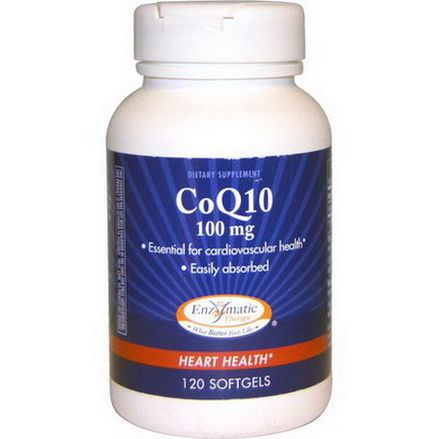 Enzymatic Therapy, CoQ10, Heart Health, 100mg, 120 Softgels
