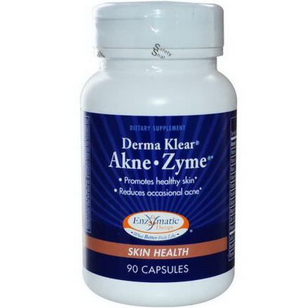 Enzymatic Therapy, Derma Klear Akne Zime, Skin Health, 90 Capsules