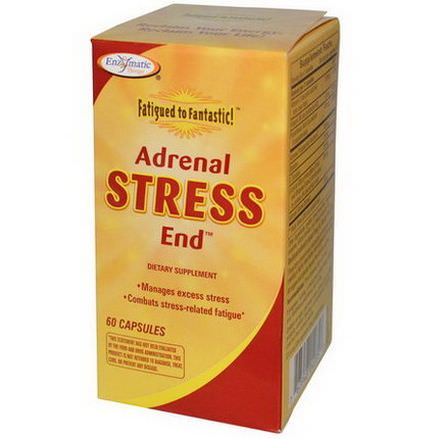 Enzymatic Therapy, Fatigued to Fantastic, Adrenal Stress End, 60 Capsules
