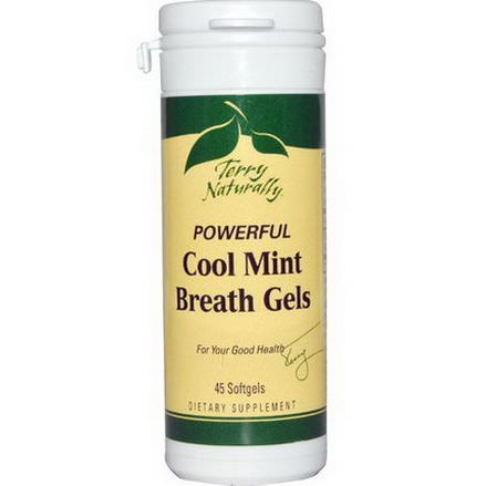 EuroPharma, Terry Naturally, Powerful Cool Mint Breath Gels, 45 Softgels