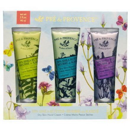 European Soaps, LLC, Pre de Provence, Floral Meadow Handcream Trio, 3 Tubes 30ml Each
