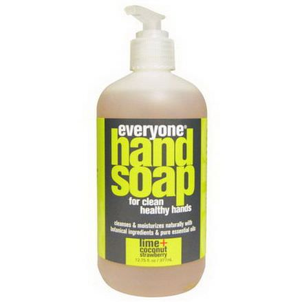 Everyone, Hand Soap, Lime Coconut Strawberry 377ml