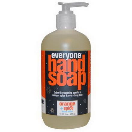 Everyone, Hand Soap, Orange Spice, Limited Edition 377ml