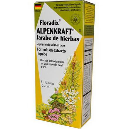 Flora, Floradix, Alpenkraft Herbal Syrup, Liquid Extract Formula 250ml