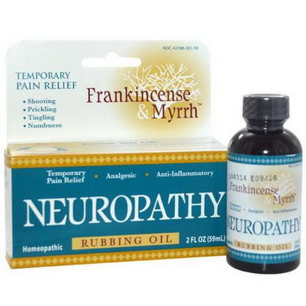 Frankincense&Myrrh, Frankincense&Myrrh, Neuropathy, Rubbing Oil 59ml
