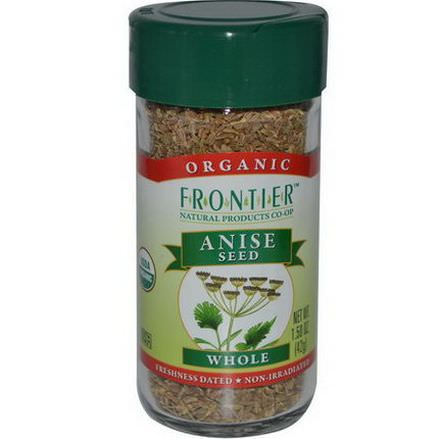 Frontier Natural Products, Organic Anise Seed, Whole 42g