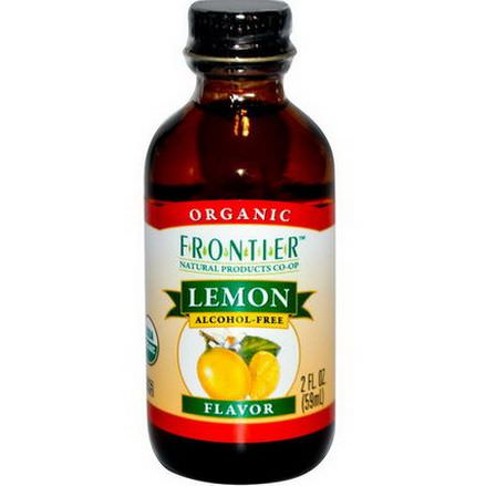 Frontier Natural Products, Organic Lemon Flavor, Alcohol-Free 59ml
