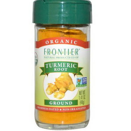 Frontier Natural Products, Organic, Turmeric Root, Ground 40g