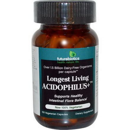 FutureBiotics, Longest Living Acidophilus, 100 Veggie Caps