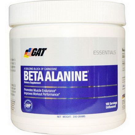 GAT, Beta Alanine, Unflavored, 200g