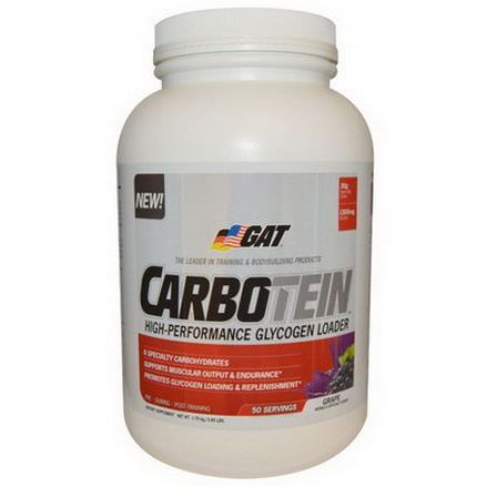 GAT, Carbotein, Grape, 50 Servings 3.85 lbs