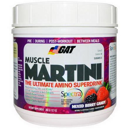 GAT, Muscle Martini, Mixed Berry Candy 360g
