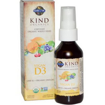 Garden of Life, Kind Organics, Vegan D3, Vanilla Spray 60ml