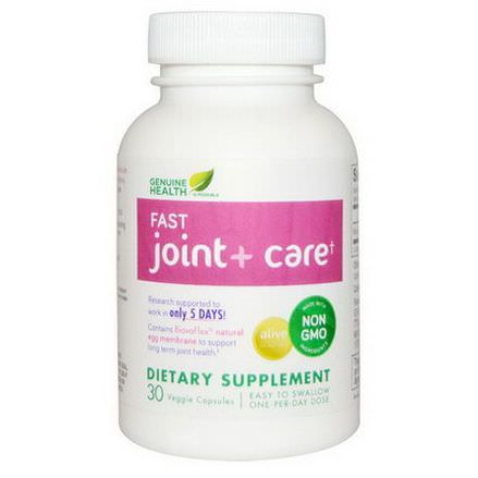 Genuine Health Corporation, Fast Joint Care, 30 Veggie Caps