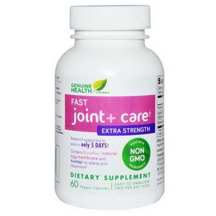 Genuine Health Corporation, Fast Joint Care, Extra Strength, 60 Veggie Capsules