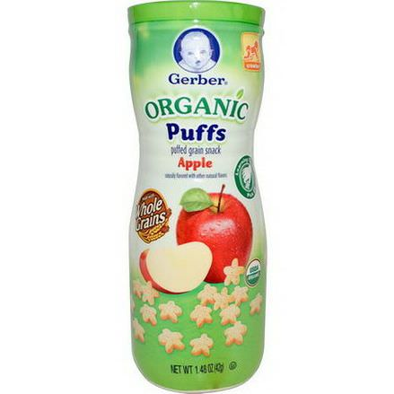 Gerber, Organic Puffs, Apple 42g