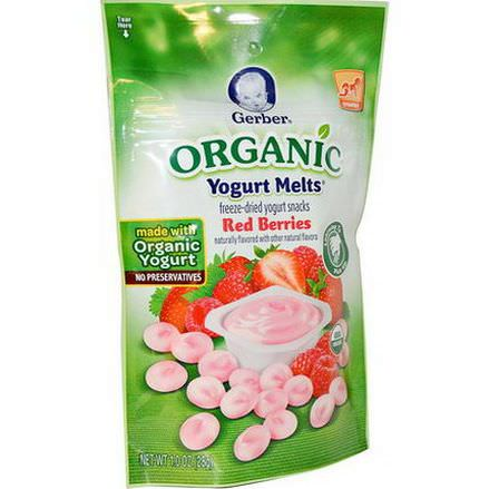 Gerber, Organic Yogurt Melts, Red Berries 28g