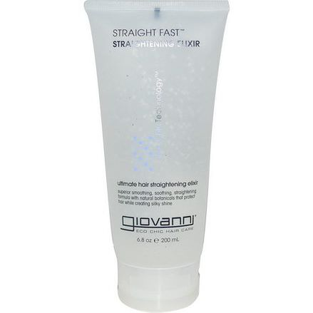 Giovanni, Straight Fast, Straightening Elixir 200ml