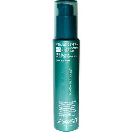 Giovanni, Wellness System, Step 3 Conditioning&Styling Hair Elixir 118ml