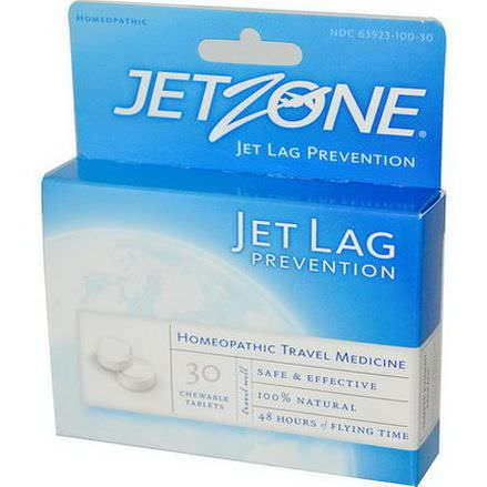 Global Source, JetZone, Jet Lag Prevention, 30 Chewable Tablets