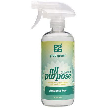 GrabGreen, All Purpose Surface, Fragrance Free 473ml