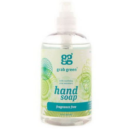 GrabGreen, Hand Soap, Fragrance Free 355ml