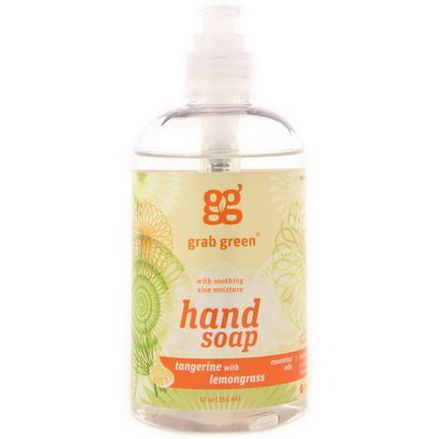 GrabGreen, Hand Soap, Tangerine with Lemongrass 355ml