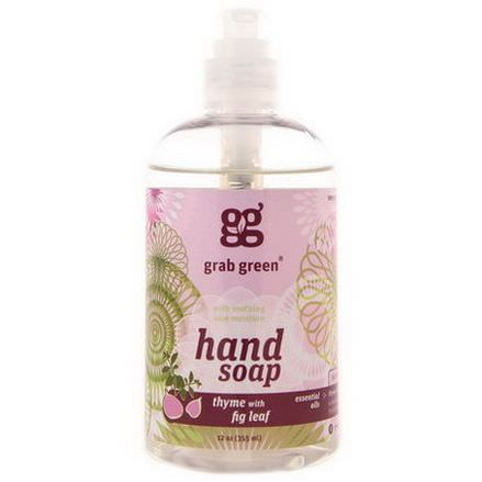 GrabGreen, Hand Soap, Thyme With Fig Leaf 355ml