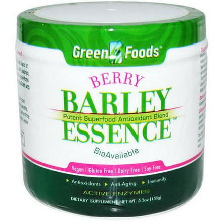 Green Foods Corporation, Berry Barley Essence, Potent Superfood Antioxidant Blend 150g