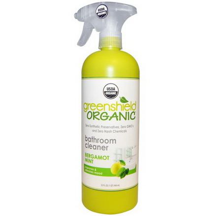 GreenShield Organic, Bathroom Cleaner, Bergamot Mint 946ml