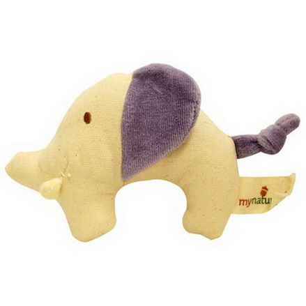 Greenpoint Brands, My Natural, Canvas Knit Teether, Purple Elephant