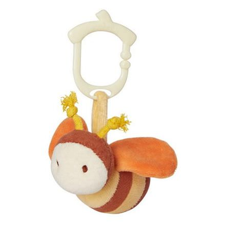 Greenpoint Brands, My Natural, Clip n Go Toy Collection, Secret Garden, Bee, 1 Rattle Toy