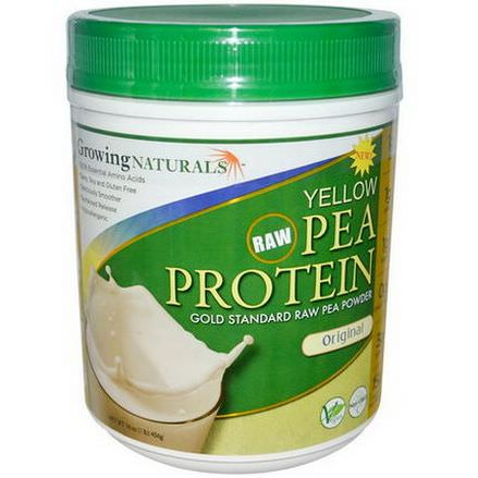 Growing Naturals, Yellow Pea Protein, Original 456g