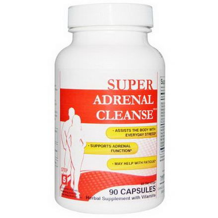 Health Plus Inc. Super Adrenal Cleanse, Step 5, 90 Capsules