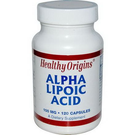 Healthy Origins, Alpha Lipoic Acid, 100mg, 120 Capsules