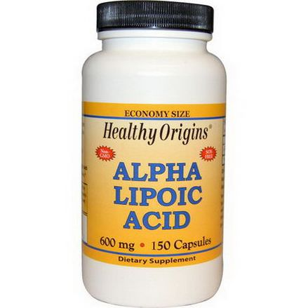 Healthy Origins, Alpha Lipoic Acid, 600mg, 150 Capsules