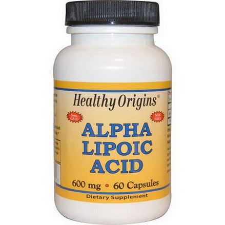 Healthy Origins, Alpha Lipoic Acid, 600mg, 60 Capsules