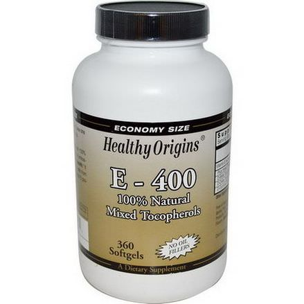 Healthy Origins, E- 400, 400 IU, 360 Softgels