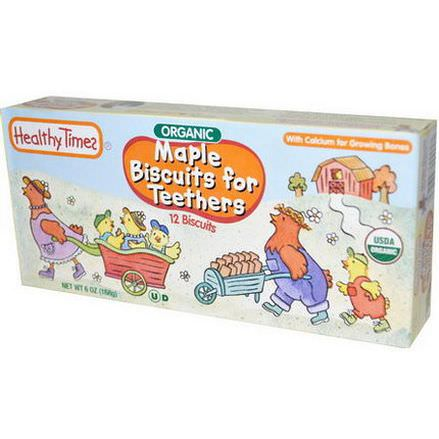 Healthy Times, Maple Biscuits for Teethers, 12 Biscuits 168g